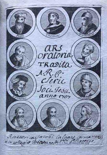 The Art Of Rhetoric : 1707 Manuscript from Toulouse.