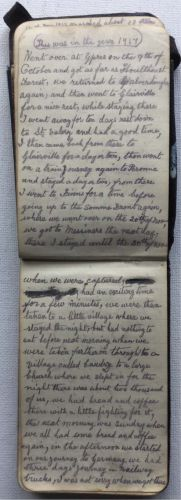 WW1 Diary Of  Private W. Dadswell 8th Battalion Royal Fusiliers.