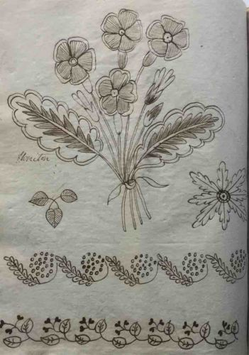 Embroidery Patterns circa 1820