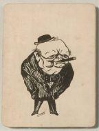 Caricature Portraits circa 1943 King Ibn Saud, Churchill, Roosevelt, Stalin etc.