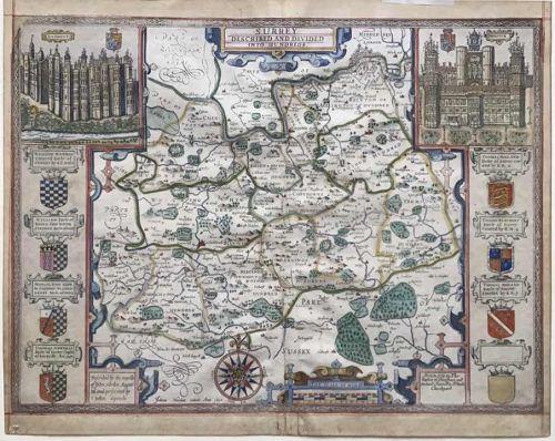 Speed's Map of Surrey 1676