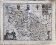 AN ORIGINAL BLAEU MAP OF THE WEST RIDING OF YORKSHIRE 1646
