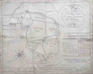 *SALE* Manuscript Estate Map; Caton, Lancaster
