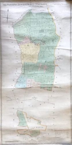 Manuscript Map of Somershall Herbert  in the County of Derby 1832