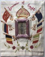 "A Silk Embroidery "" Souvenir Of Egypt"""