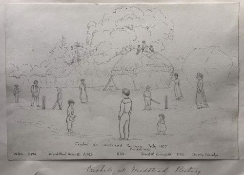 Cricket at Medstead Rectory 1877