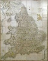 Cased First Edition Of Cary's New Map of England 1794